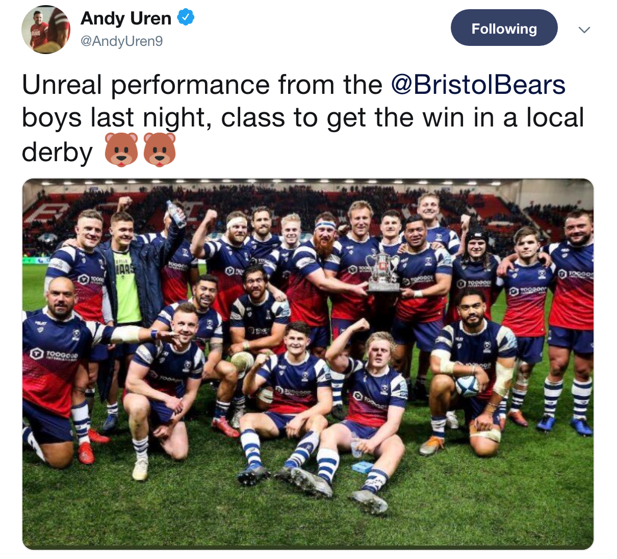 Social media round-up: Bears deliver on derby day | Bristol Bears